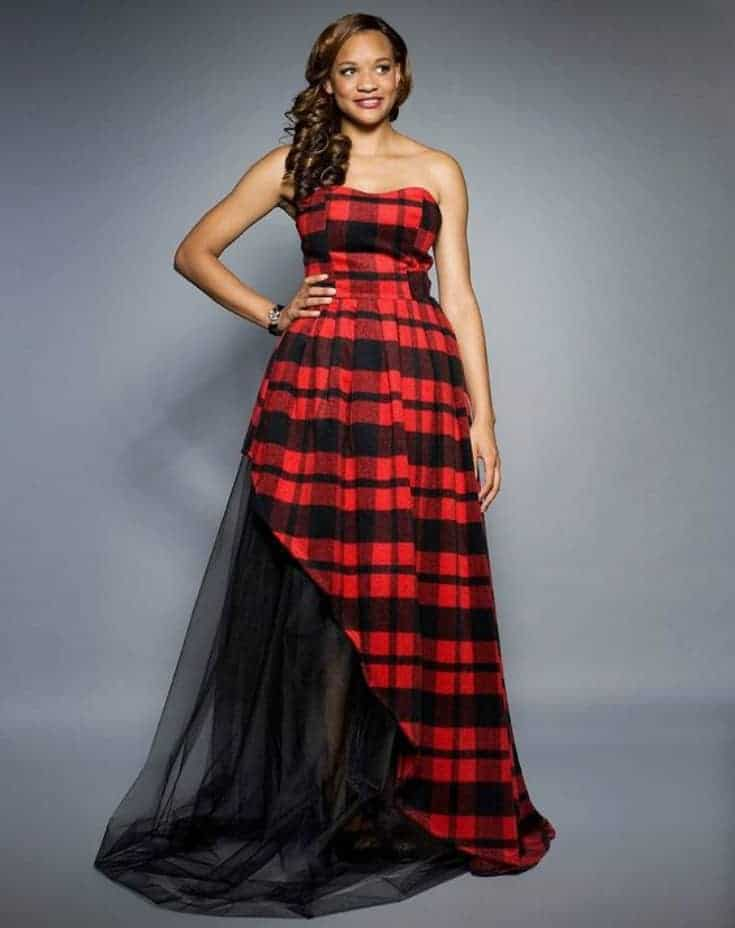 Great red and black dress rent frock repeat