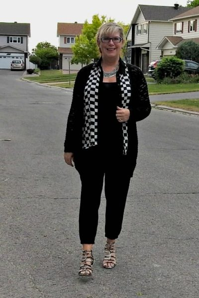 A Fun Black and White Outfit and the Best Instagram Hack