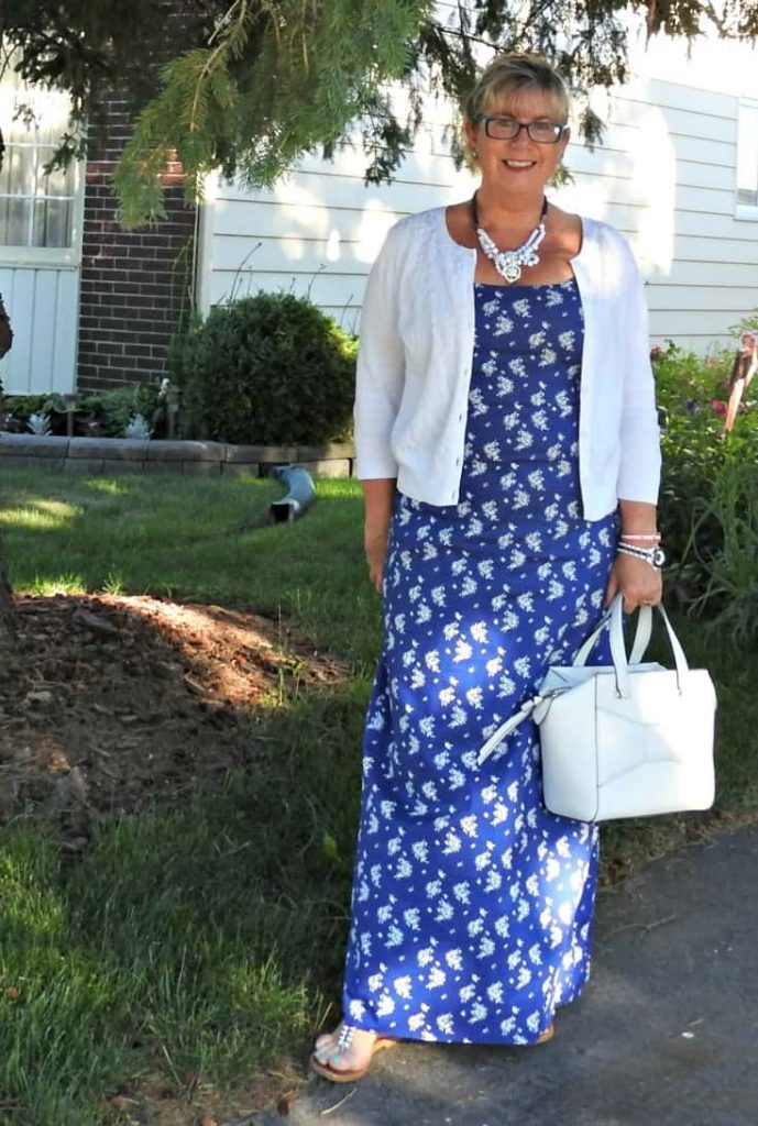 J Crew Maxi, Kate Spade Beau Bag and a konifer watch. Paired with a Vanheusen Sweater