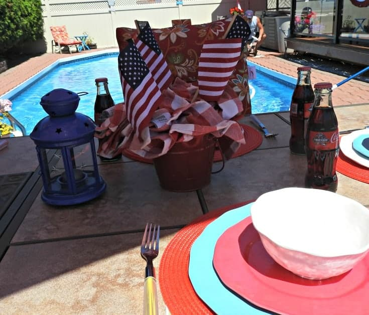 Celebrating #independenceday with Presidents Choice and a tablescape