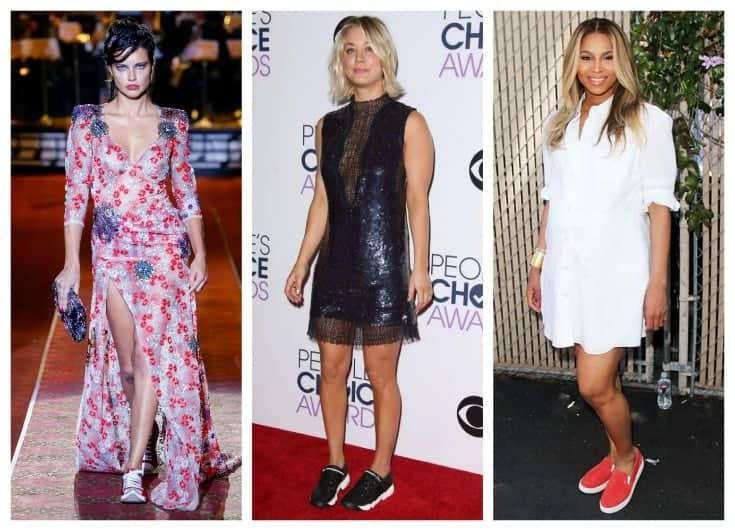 celebrities in sneakers