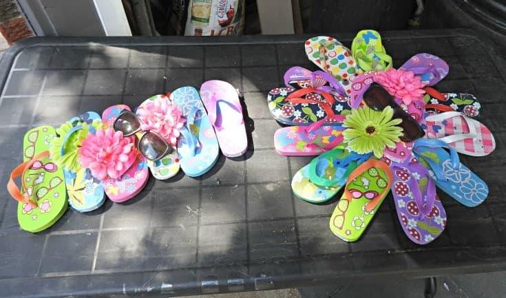flip flop wreaths for poolside decor