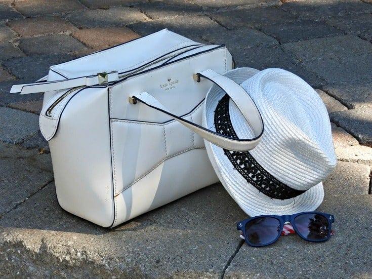 Kate Spade Beau Bag, A Fedora and sunglasses