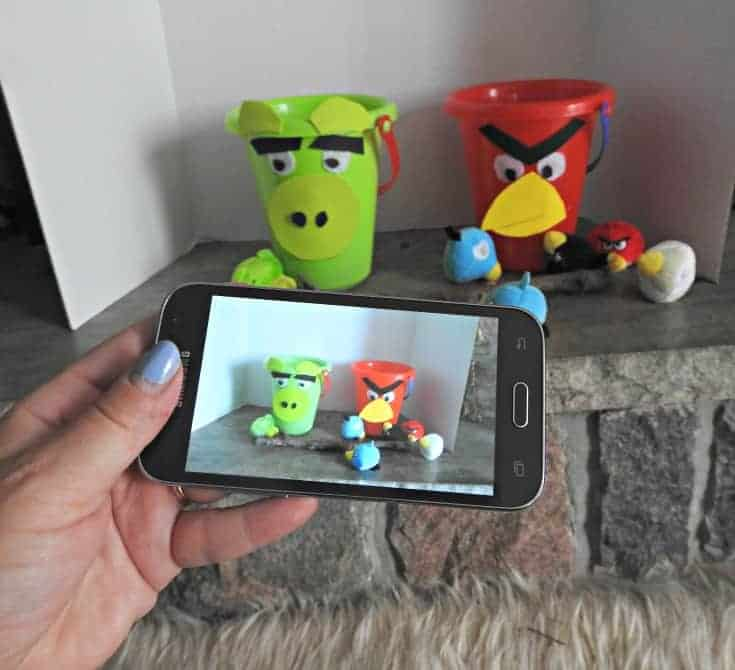 Angry Bird Movie night with a bird and pig toss game