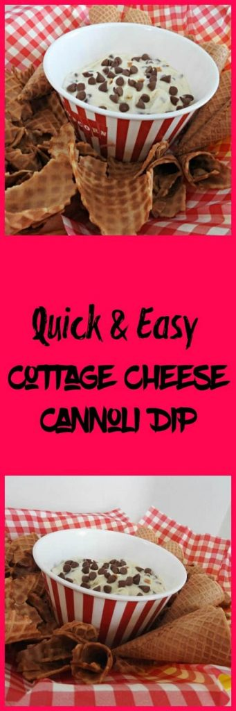 Cottage cheese cannoli dip recipe