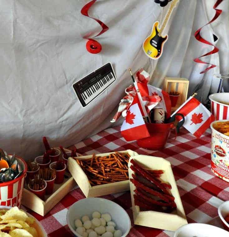 Tragically Hip Birthday Party snack bar