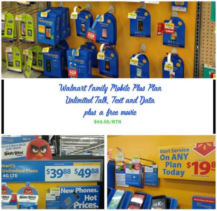 family phone plans at Walmart