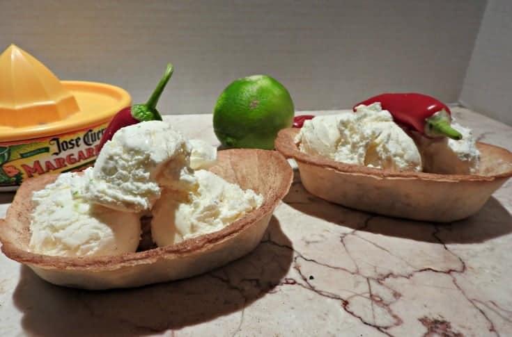 Kid Friendly Margarita Ice Cream- Mocktail in a bowl
