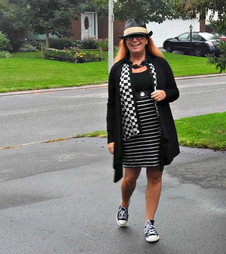Giant tiger Dress with a Forever 21 blouse, Fedora and converse.Happy Pattern Day