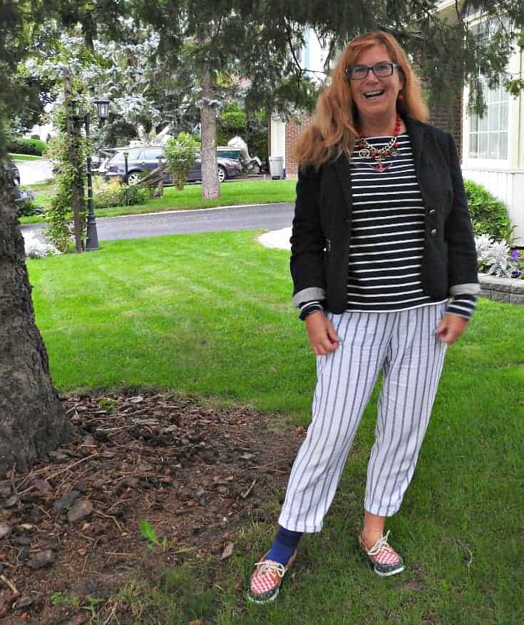 Old Navy Nautical Look, alternating stripes and a few anchors