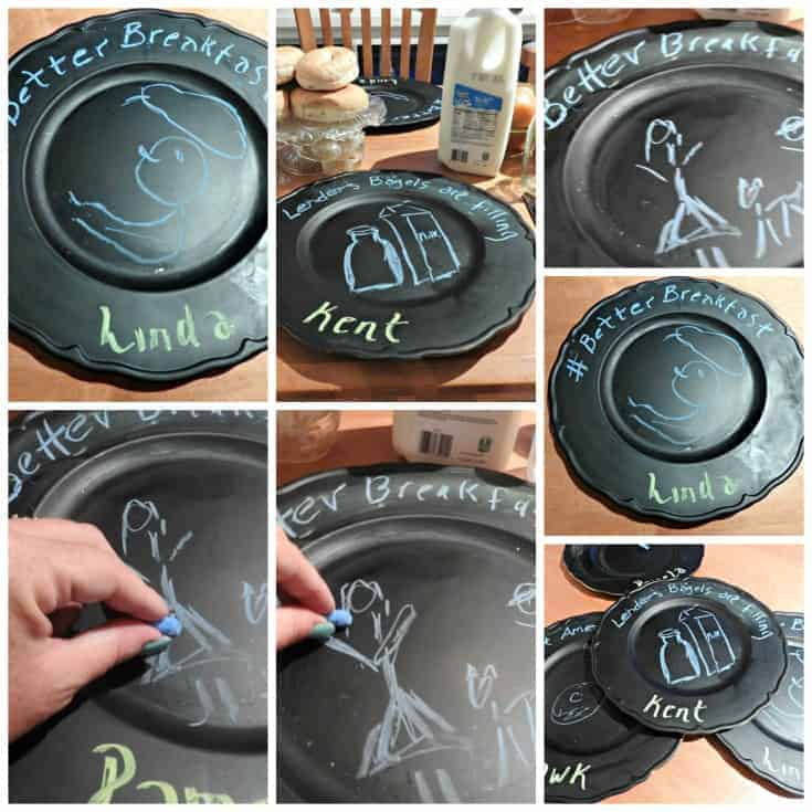 personalized chargers with chalk paint
