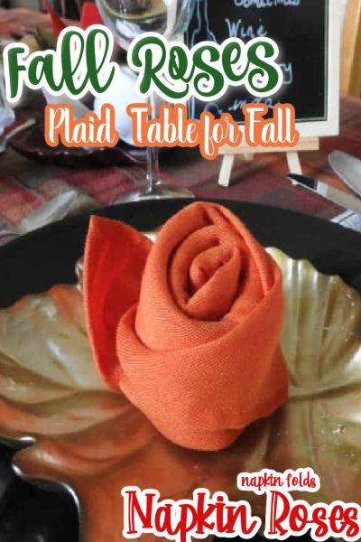 Fall Tablescape with Rose Napkins