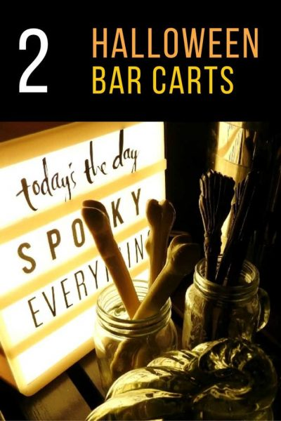 Halloween Bar Carts- Tips to Decorate for the Season