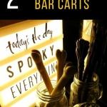 bar cart for Halloween