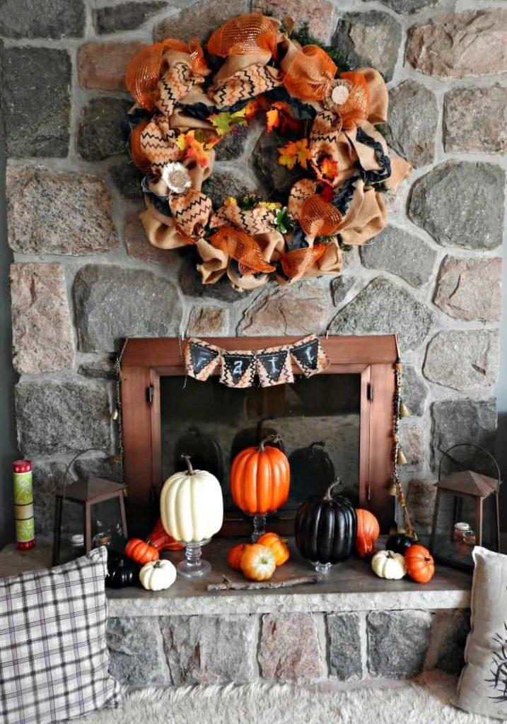 Fall Mantle wreath