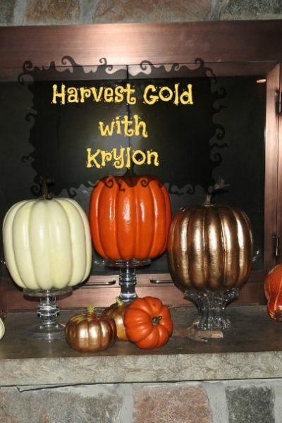 Harvest Gold with Krylon