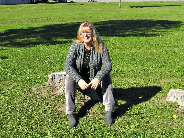 Vanheusen Cardigan and grey velvet jeans from Joe Fresh with short grey boots
