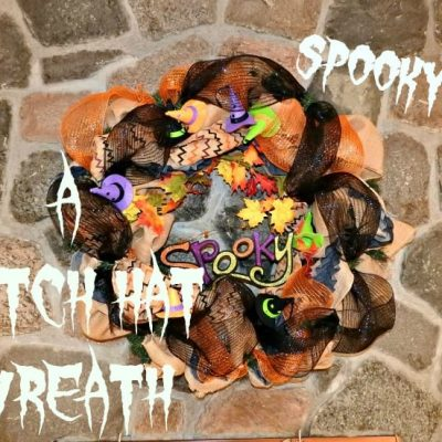 A Spooky Witch Hat Wreath