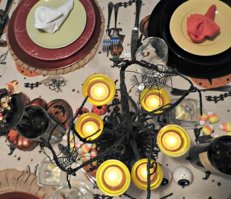 fun halloween table setting