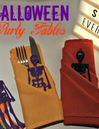 Halloween Fun and Two Cute Halloween Napkin Folds