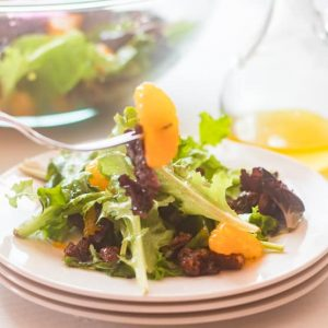 madarin orange salad and dressing
