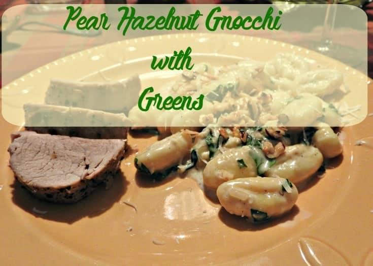 Pear Hazelnut Gnocchi with Greens