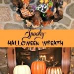 spooky Halloween wreath pin