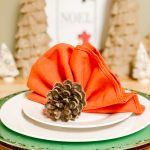 Thanksgiving Turkey napkin on a white plate