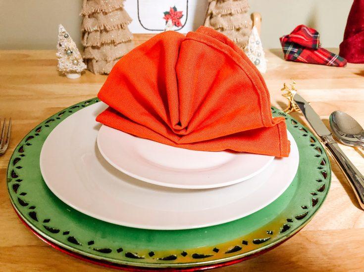 creating a turkey napkin