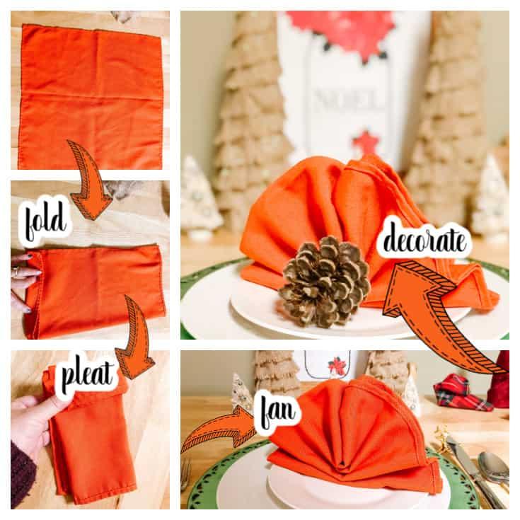 turkey napkin tutorial