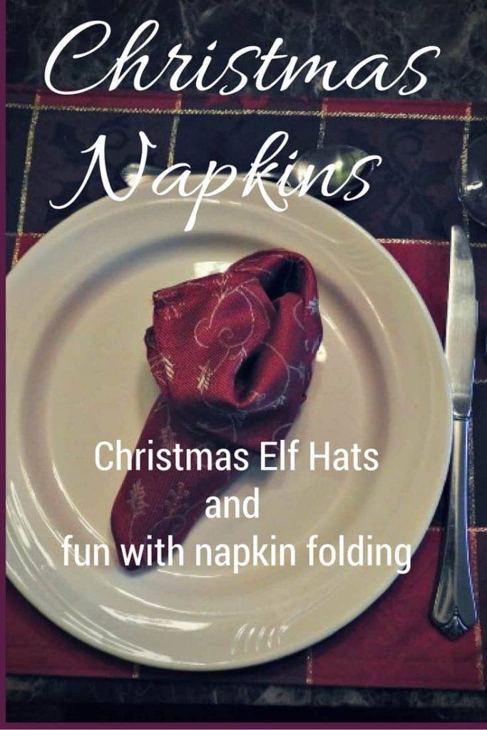 Christmas Elf Shoes with linen napkins for your holiday table
