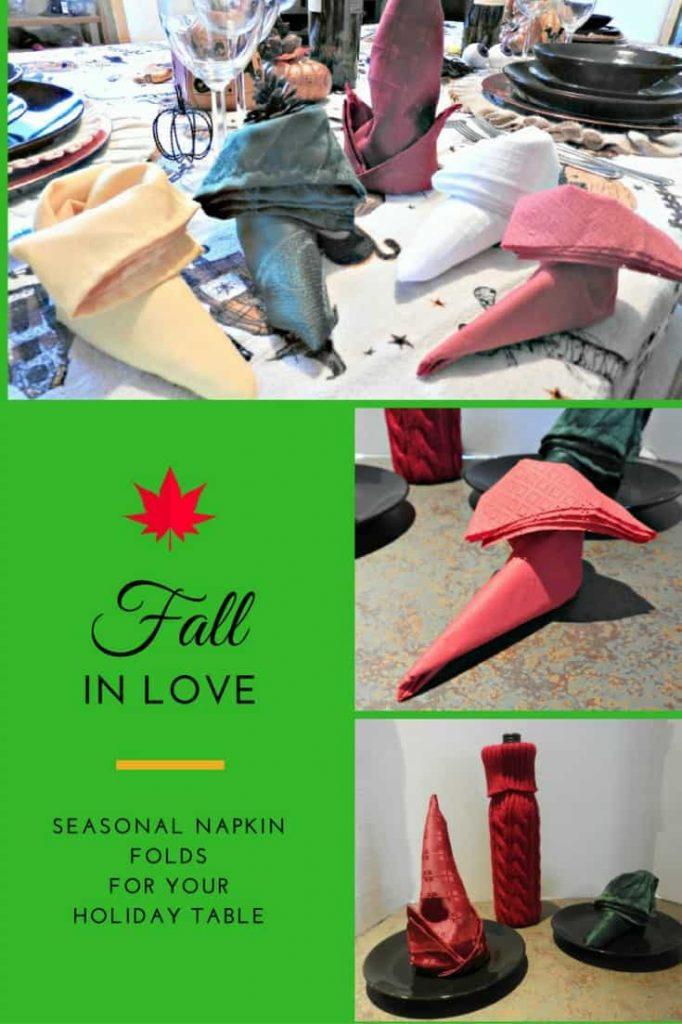seasonal napkin folds, Christmas edition