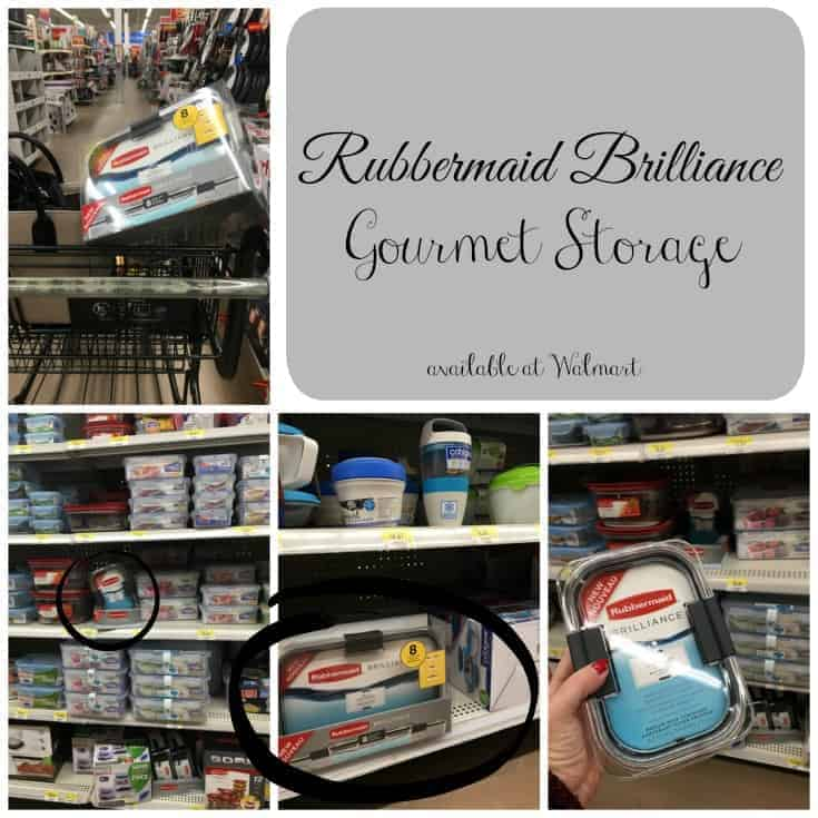 Rubbermaid brilliance storage containers at Walmart