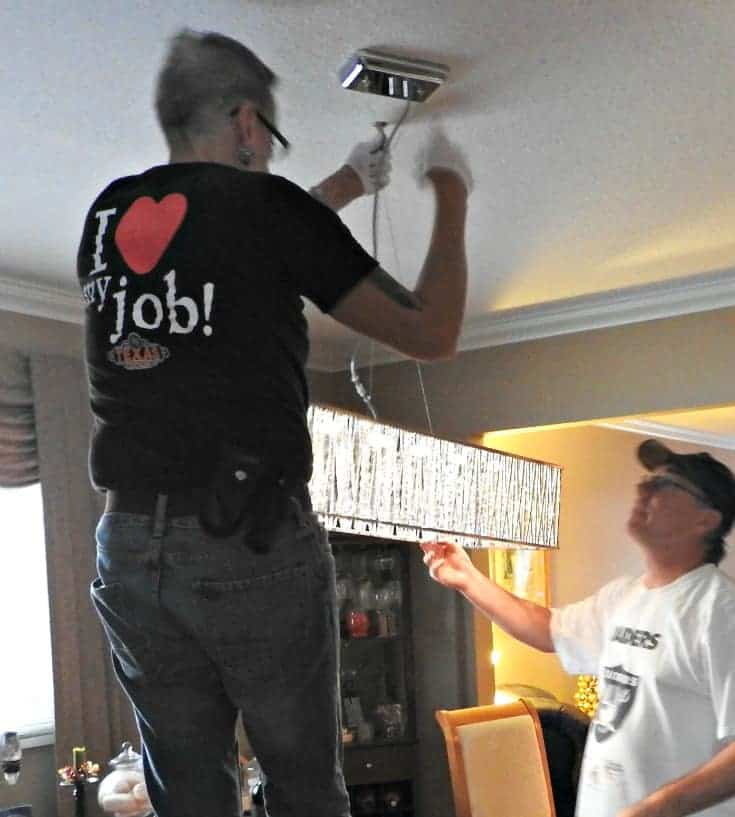 installing the LED Pendant Light from Home Depot
