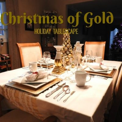 Christmas of Gold – Holiday Tablescapes