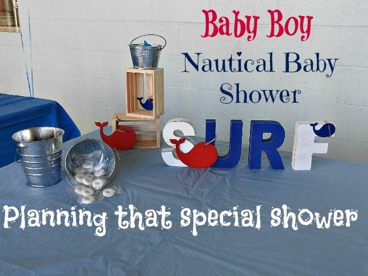 baby boy Nautical baby shower