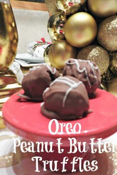 Homemade Peanut Butter OREO Truffles