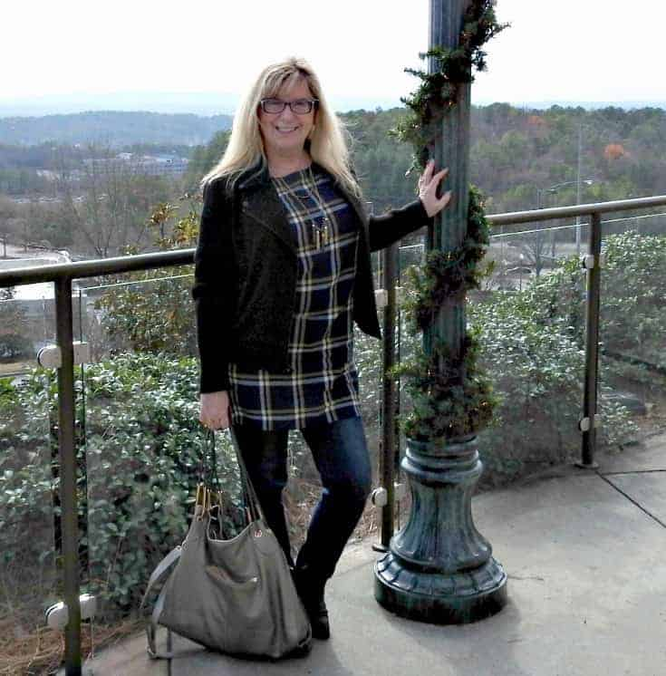 Tunic from Old Navy, Moto-Banana Republic, Denims from Haggar and Boots-Forever 21 Necklace is 7 Charming Sisters and the Bag is a Michael Kors