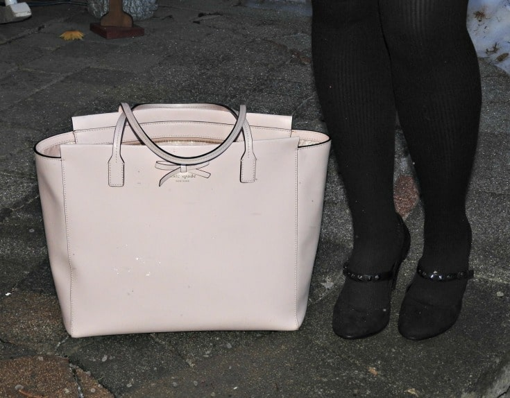 ECCO studded pumps and a kate spade blush tote