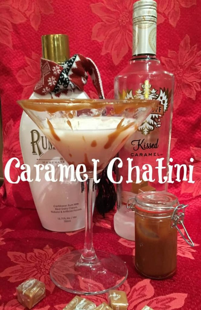 Caramel Chatini with Caramel Vodka and Rum Chata