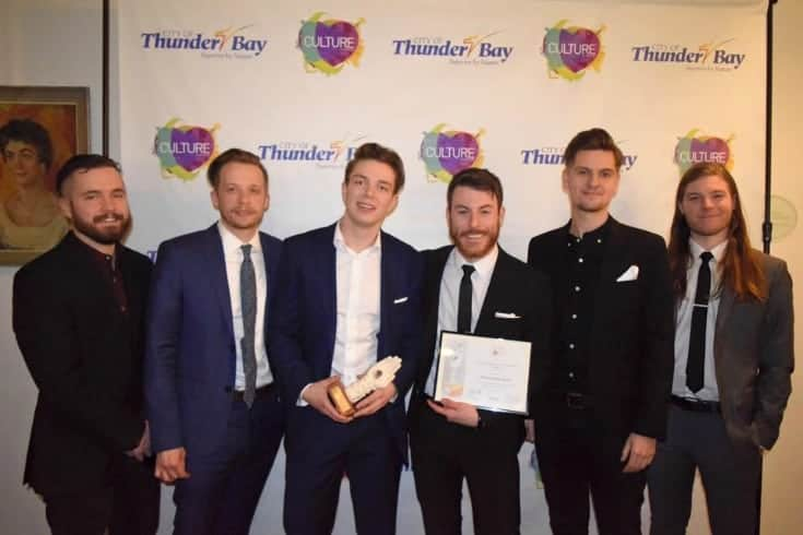 the honest heart collective with the Thunder bay heritage and arts music award
