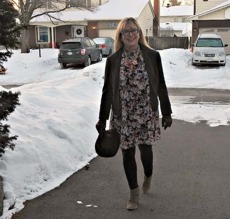 Target Floral dress, blazer and Rodeo boots