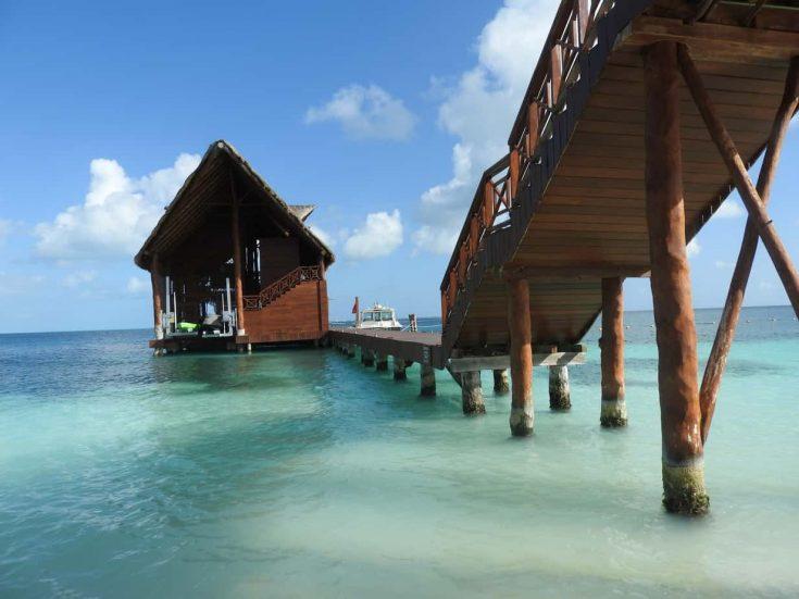 wharf on the beach in cancun
