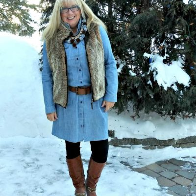 Fashion over 50 with Pom Poms and Fur