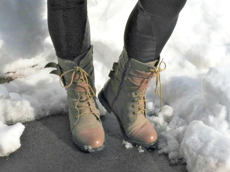 Giant tiger lace up boots