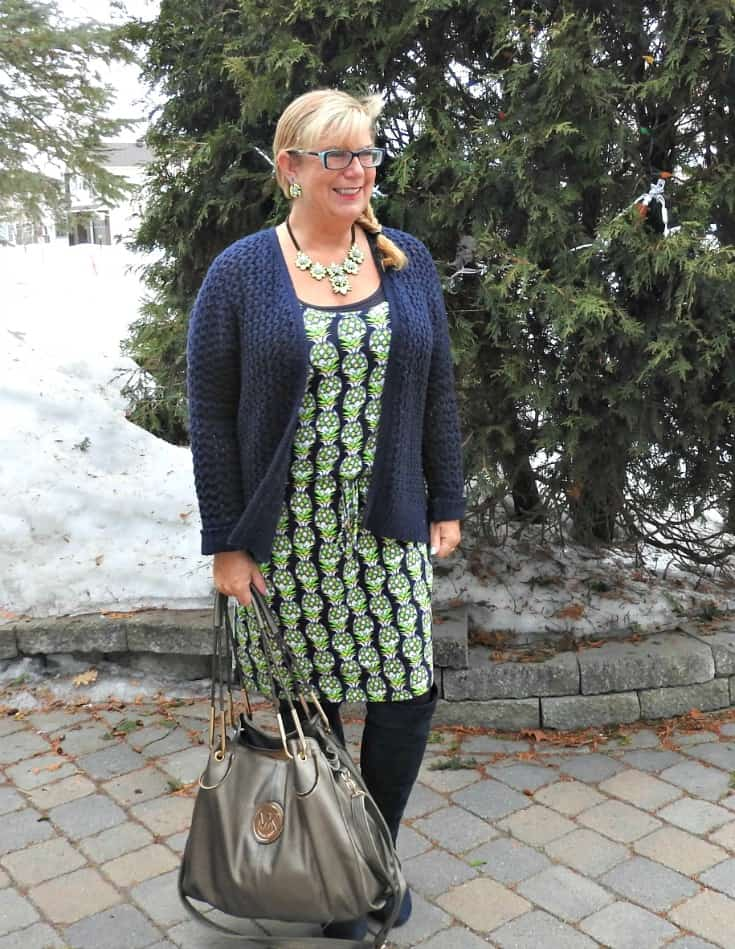 winterizing a summer dress