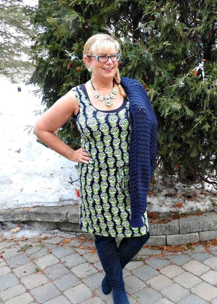Pineapple dress and yosa necklace