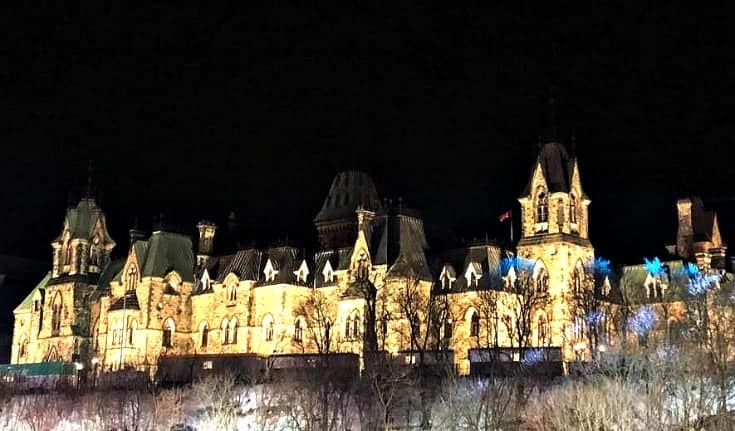 Parliament and the Red Bull Crashed Ice in Ottawa