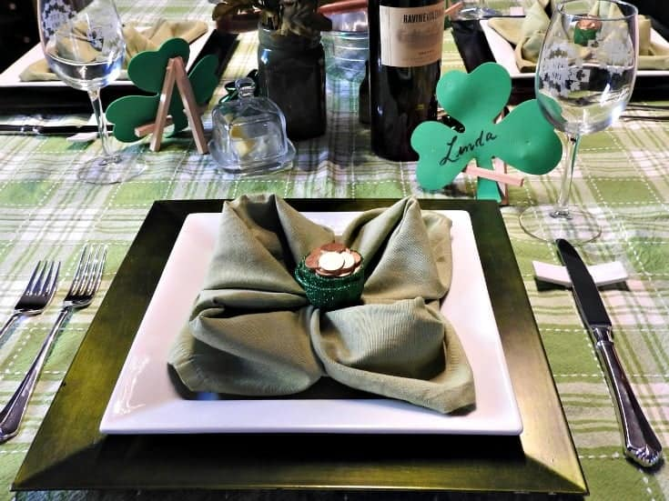 shamrock and pots of gold on the table