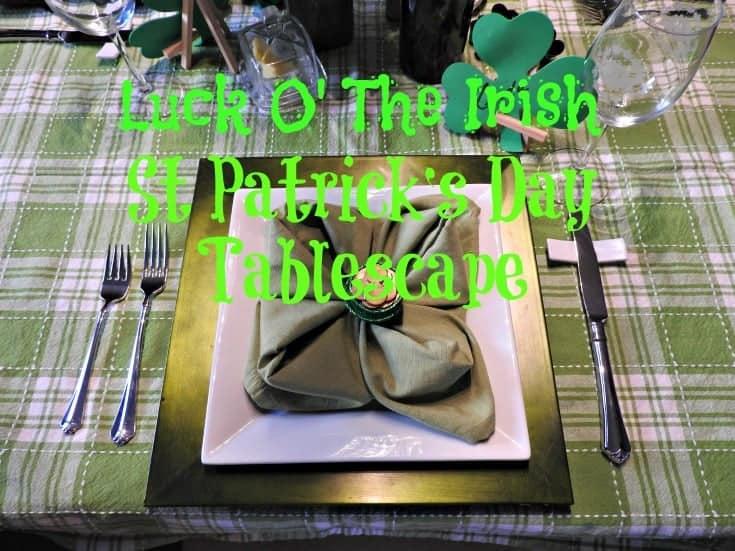 Luck of the Irish table settings